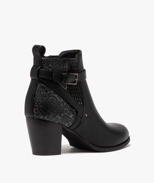 Boots femme à talon dessus multi-matières vue4 - GEMO(URBAIN) - GEMO
