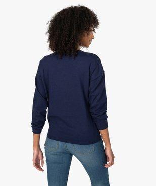 Pull femme  en maille fine avec boutons sur les épaules vue3 - GEMO(FEMME PAP) - GEMO