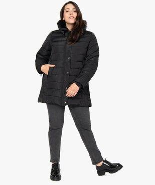 Manteau femme matelassé avec col doublé vue5 - GEMO (G TAILLE) - GEMO