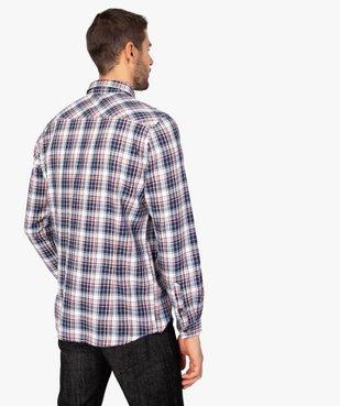 Chemise homme à carreaux et poches poitrine vue3 - GEMO (HOMME) - GEMO