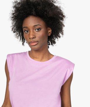 Tee-shirt femme à épaulettes sans manches vue2 - GEMO(FEMME PAP) - GEMO