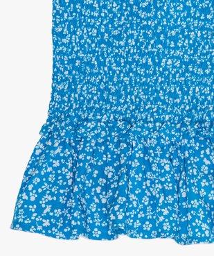 Jupe fille courte et imprimée en smocks  vue2 - GEMO (JUNIOR) - GEMO