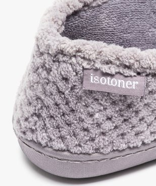 Chaussons femme forme charentaise - Isotoner vue6 - ISOTONER - GEMO