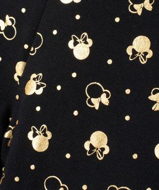 Legging fille imprimé têtes de Minnie dorées avec nœud satin vue3 - MINNIE - GEMO