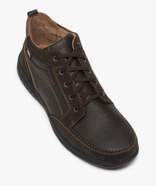 Low-boots homme confort avec nombreuses surpiqûres - Zen vue5 - GEMO (CONFORT) - GEMO