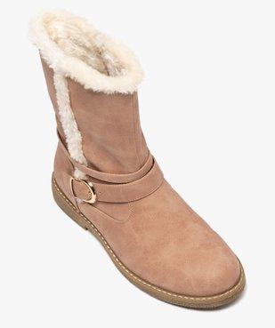 Boots fourrés femme unis à bride décorative vue5 - GEMO (CASUAL) - GEMO