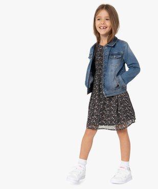 Veste fille en jean extensible vue6 - GEMO (ENFANT) - GEMO