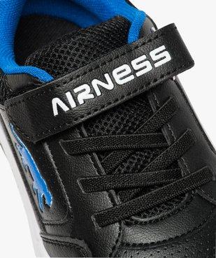 Baskets garçon effet perforé à lacets élastiques - Airness vue6 - AIRNESS - GEMO