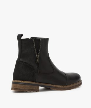 Boots homme zippés dessus cuir et doublure chaude vue4 - Nikesneakers (CASUAL) - Nikesneakers