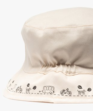 Chapeau bébé garçon forme bob avec message vue2 - GEMO(BEBE DEBT) - GEMO