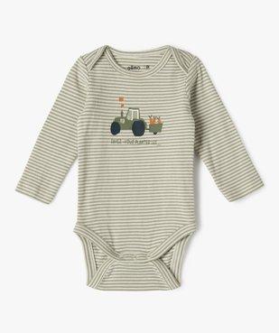 Body bébé manches longues motifs jardinage (lot de 3) vue2 - GEMO C4G BEBE - GEMO