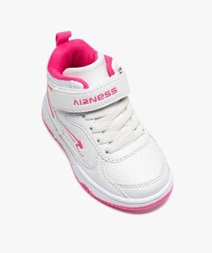 Baskets bébé fille montantes à scratch - Airness Vito vue5 - AIRNESS - GEMO