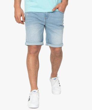 Bermuda homme en jean délavé vue2 - Nikesneakers (HOMME) - Nikesneakers
