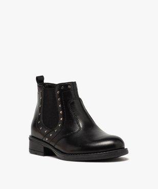 Boots fille en cuir uni style chelsea ornées de clous vue2 - GEMO (ENFANT) - GEMO