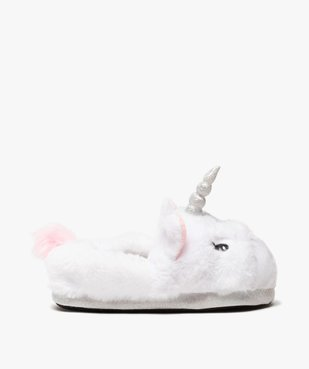 Chaussons fille peluches licorne vue1 - GEMO C4G FILLE - GEMO
