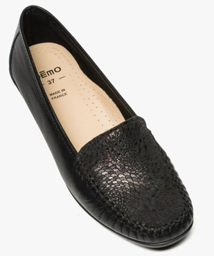 Mocassins confort femme dessus cuir souple vue5 - GEMO (CONFORT) - GEMO