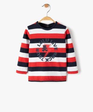 Tee-shirt rayé bébé garçon – Lulu Castagnette vue1 - LULUCASTAGNETTE - GEMO