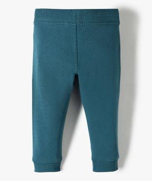Pantalon de jogging bébé uni vue3 - GEMO C4G BEBE - GEMO