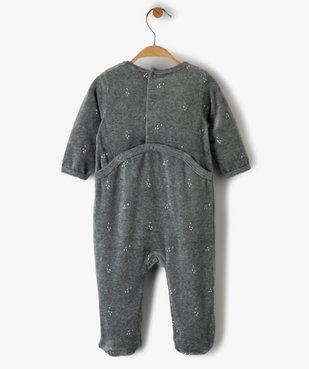 Pyjama bébé garçon en velours avec motif zèbre vue3 - GEMO(BB COUCHE) - GEMO