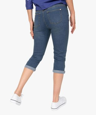 Pantacourt femme en jean extensible vue3 - GEMO C4G FEMME - GEMO