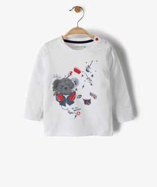 Tee-shirt bébé garçon avec motifs rock – Lulu Castagnette vue1 - LULUCASTAGNETTE - GEMO