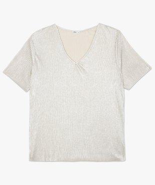 Tee-shirt femme plissé en Lurex vue4 - Nikesneakers (G TAILLE) - Nikesneakers