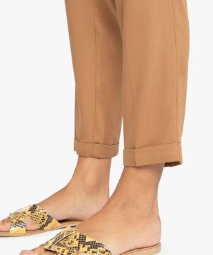 Pantalon femme fluide avec taille élastiquée vue2 - GEMO(FEMME PAP) - GEMO