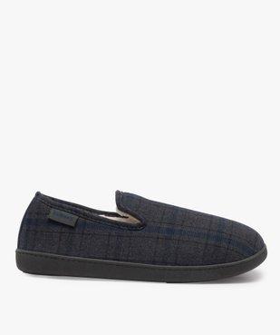 Chaussons homme pantoufles en velours - Isotoner Dessus tissu à carreaux tartan vue1 - ISOTONER - Nikesneakers