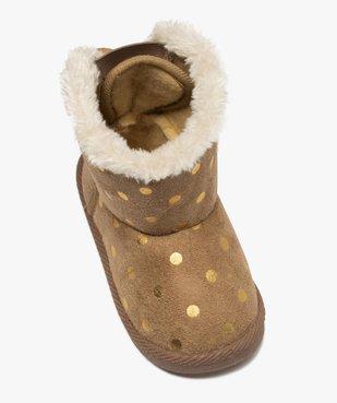 Boots d'intérieur bébé fille en suédine – Lulu Castagnette vue5 - LULU CASTAGNETT - GEMO