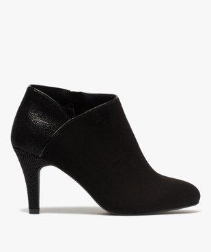Low-boots femme dessus suédine et bordures passepoil vue1 - GEMO(URBAIN) - GEMO
