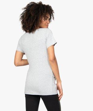Tee-shirt de grossesse imprimé vue3 - GEMO (MATER) - GEMO