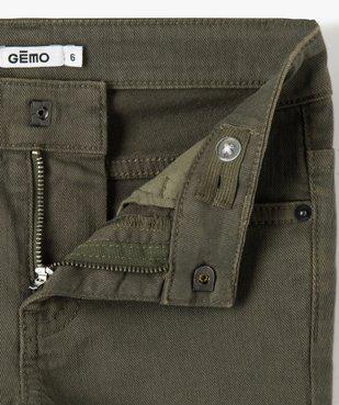 Pantalon garçon uni coupe Slim extensible  vue2 - GEMO (ENFANT) - GEMO