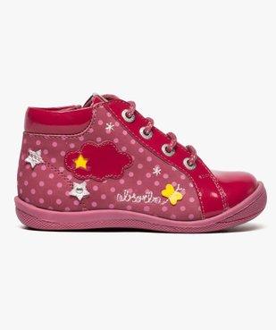 Chaussures montantes en cuir et cuir verni - Absorba vue1 - ABSORBA - GEMO