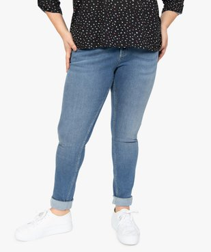 Jean femme slim gainant taille normale  vue1 - GEMO (G TAILLE) - GEMO