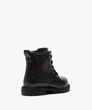 Boots bébé fille vernis et pailletés fermeture zip vue4 - GEMO(BEBE DEBT) - GEMO