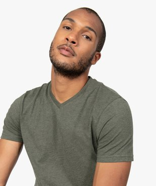 Tee-shirt homme à manches courtes et col V vue5 - GEMO C4G HOMME - GEMO
