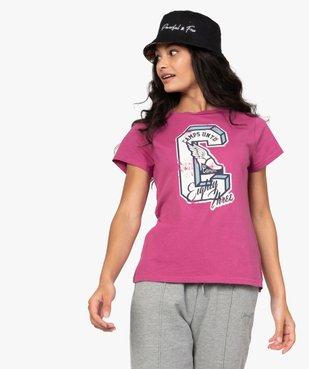 Tee-shirt femme à manches courtes et motif patiné - CAMPS vue2 - CAMPS UNITED - GEMO