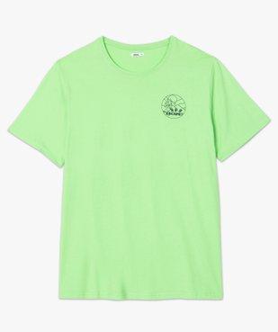Tee-shirt homme avec macaron fantaisie vue4 - GEMO (G TAILLE) - GEMO