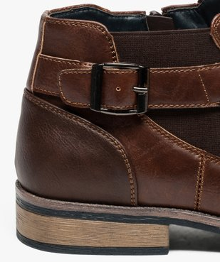 Boots homme fermeture zippée avec bloucle sur le côté vue6 - GEMO (HOMME) - GEMO