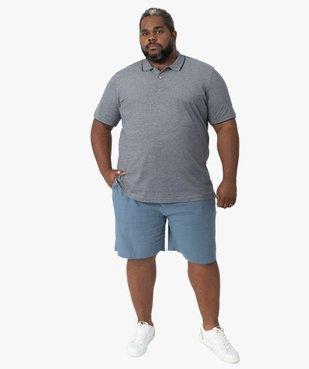 Bermuda homme coupe chino en lin/coton vue5 - GEMO (G TAILLE) - GEMO