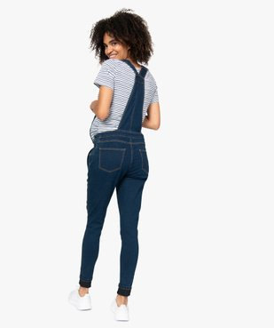 Salopette en jean de grossesse en denim stretch vue3 - Nikesneakers (MATER) - Nikesneakers