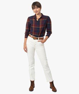 Chemise femme à carreaux 100% coton vue5 - GEMO(FEMME PAP) - GEMO