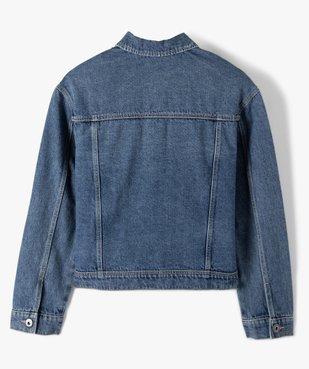 Veste fille en jean avec marques d'usures vue4 - GEMO (ENFANT) - GEMO