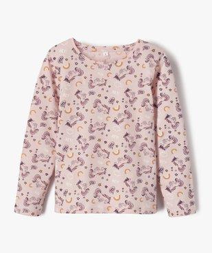 Pyjama fille avec motifs licorne vue2 - GEMO (ENFANT) - GEMO
