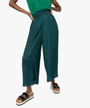 Pantalon femme plissé en matière satinée vue1 - GEMO(FEMME PAP) - GEMO