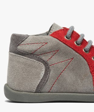 Chaussures premiers pas bébé garçon en cuir vue6 - GEMO(BEBE DEBT) - GEMO