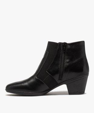 Boots femme confort à talon dessus cuir vue3 - GEMO (CONFORT) - GEMO