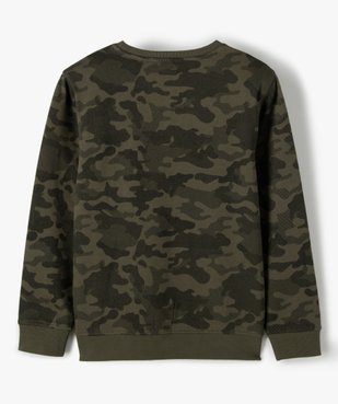 Sweat garçon à motif camouflage vue3 - GEMO (ENFANT) - GEMO