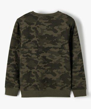 Sweat garçon à motif camouflage vue4 - GEMO (ENFANT) - GEMO