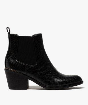 Boots femme à talon style chelsea unis vue1 - GEMO(URBAIN) - GEMO